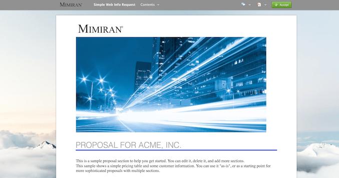 Mimiran Account Background View